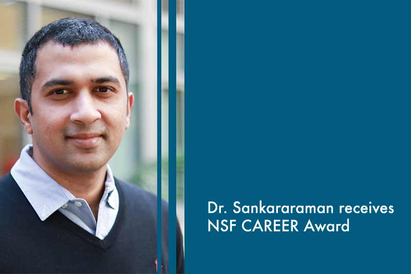 Dr. Sankararaman receives the NSF CAREER award